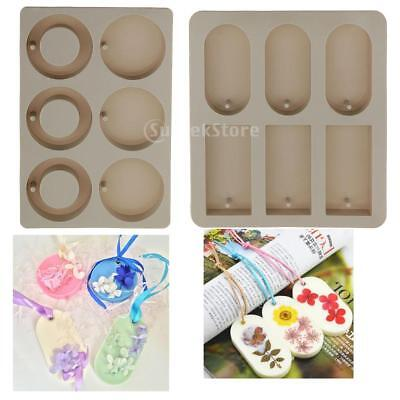 2 Set Rectangle Round Silicone Soap Making Mould DIY Aroma Soy Wax Mold Tool