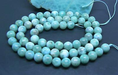 65 CARIBBEAN BLUE LARIMAR ROUND SPHERE BALL BEADS 6.25-6.5mm 119cts AAA 15.5""
