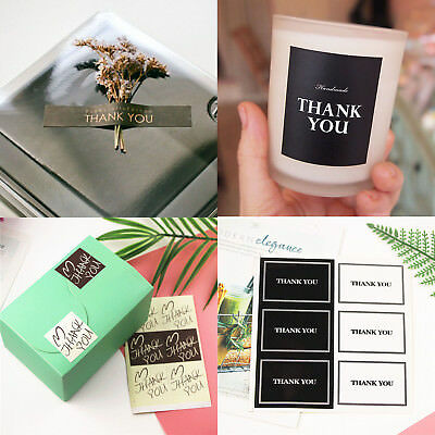 """Thanksgiving Kraft paper Peel Off Stickers Gift Bags Decor Sticker """" THANK YOU """""""