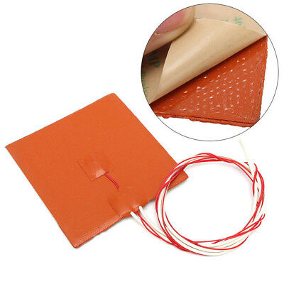 12V 120W 120X120mm Waterproof Silicone Heater Pad for 3D Printer Heater Bed Mat