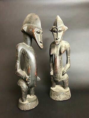 Senufo Old Wood Carved African Statues Figure