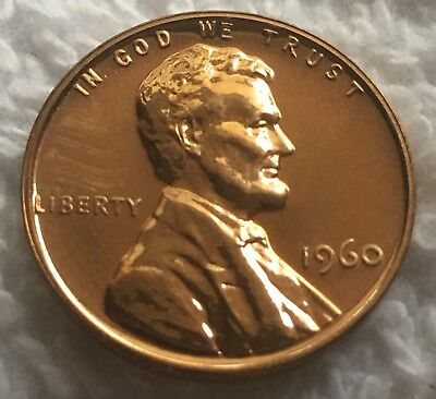 1960 Proof Lincoln Cent Cameo From U.s. Mint Set Wow Look