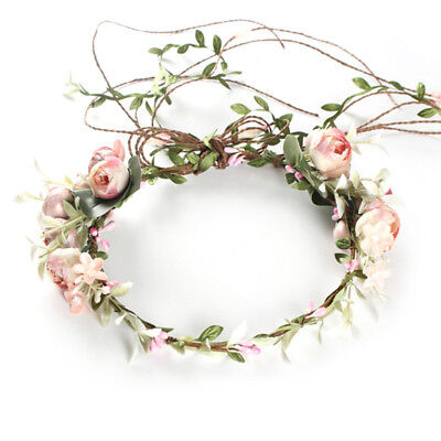 Women's Boho Flower Floral Hairband Headband Crown Party Bride Wedding Beach