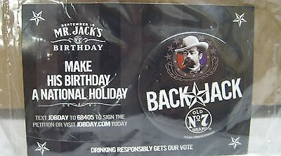 "Jack Daniels Whiskey - ""back Jack"" Jack's Birthday Promo Pin *new / Sealed*"