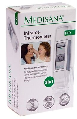 Medisana Fieberthermometer FTD Infrarot Thermometer 3in1 Speicher Stirn Ohr
