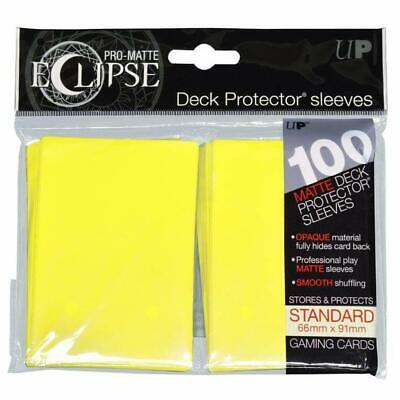 DECK PROTECTORS STANDARD-100ct Pro Matte ECLIPSE 66 x 91mm Yellow Sleeves