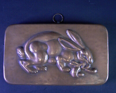 seltenes altes Kupfermodel - Hase - OSTERHASE - Backform Model Mold - 23x14 cm