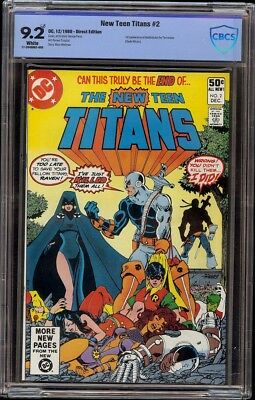 New Teen Titans # 2 CBCS 9.2 White (DC, 1980) 1st appearance Deathstroke Movie