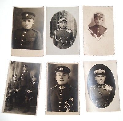 1934 - 1939 Lithuanian Army Photos Post cards Lot of 6 Pcs War Soldiers Nr 8805