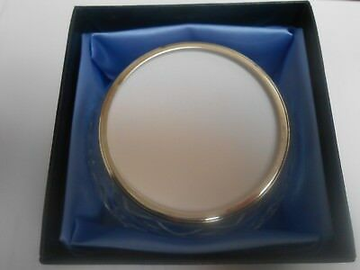 Framecraft Trinket Box Hand Cut Lead Crystal Round Design just over 2.5 inches