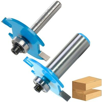 "TUNGSTEN CARBIDE BISCUIT ROUTER BITS 1/2"" 1/4"" Shank 10 & 20 Wood Cutter Slot"