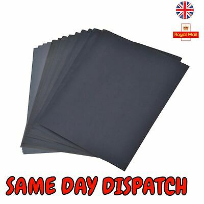New 12 Assorted Sand Paper Sheets Fine Medium Home Coarse Wet Dry Use Sandpaper