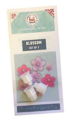 FMM Funcraft BLOSSOM Set of 3 Cutters for Clay FUNBLO Lifetime Guarantee