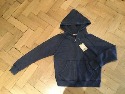 """NWT Juicy Couture New & Gen. Girls Age 10 Blue Cotton Hoody With """"J"""" Zip Pull"""