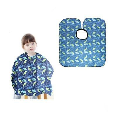 Child Shark Print Hair Cape Barber Cutting Gown Salon Hairdressing Kid Apron