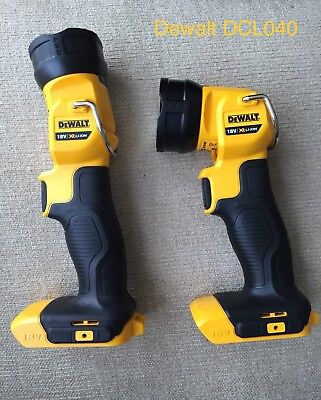 2 X Dewalt DCL040N 18v XR li-ion LED pivot light/torch naked