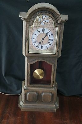 Vintage Miniature Electric Grandfather Clock By Sunbeam Original Box