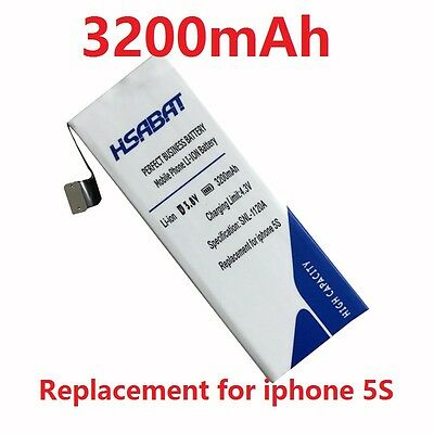 3001mAh-3200mAh Replacement Mobile Phone Battery For Apple Iphone 5S 5 s 5c p