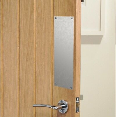 Brushed Stainless Steel Sheet Plate Finger Door Push Plates - Various Sizes