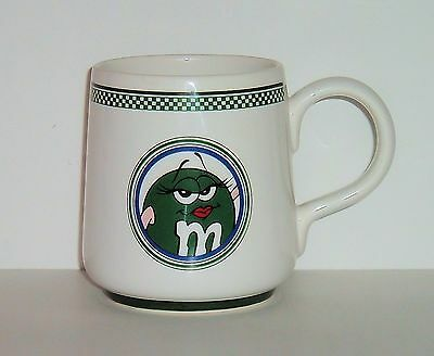 M&M's Ceramic Coffee Mug / Cup - Ms. Green - Displayed Only - Perfect Condition!