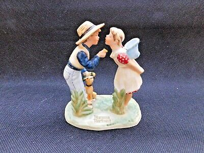 """Norman Rockwell """"beguiling Buttercup"""" Gorham Textron Bone China Figurine"""