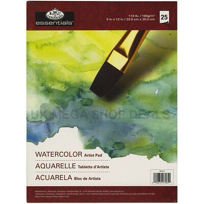 """ROYAL & LANGNICKEL ESSENTIAL Watercolour Artist Pads 25 SHEETS 9""""x12"""""""