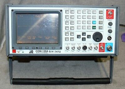 IFR Aeroflex COM-120A AM/FM Communications Service Monitor, UNTESTED, Powers On