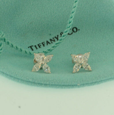 Tiffany & Co. Victoria Collection Earrings w/ Marquise Diamonds, Large Size