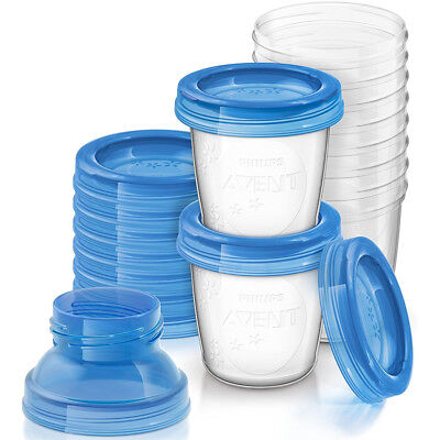 Philips Avent SCF618/10 10-Pack 6 Oz. Leak Proof  Breastmilk Storage Starter Set