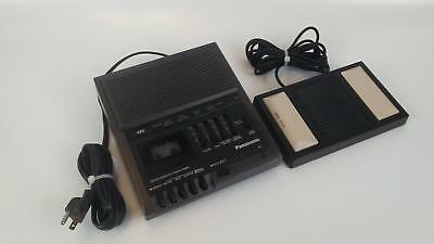 Panasonic RR-930 Microcassette Transcriber and RP-2692 Foot Pedal TESTED WORKING