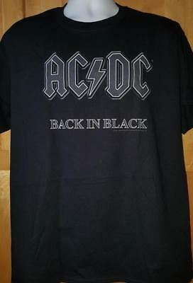 "AC/DC T-Shirt ""Back In Black""  Official/Licensed S, M, L, XL, 2XL, 3XL, 4XL  NEW"