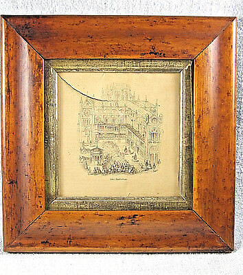 Antique Early Birdseye Maple OGEE Square Picture Frame