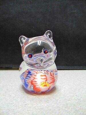❤ Hand Blown SWEET KITTY CAT Glass Paperweight