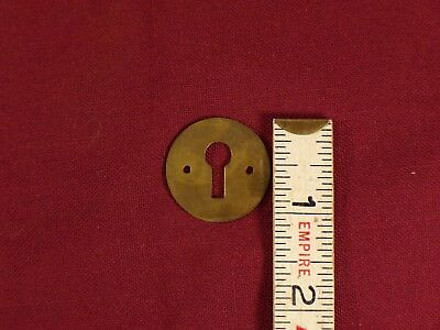Vintage Antique Lock Escutcheons Brass Key Hole Covers Furniture Drawer Hardware