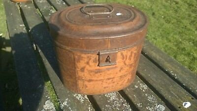Antique Victorian Metal Hat Box Nice Patina