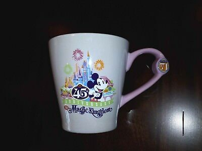 Disney - Magic Kingdom 45th Anniversary White Ceramic Coffee Mug - New