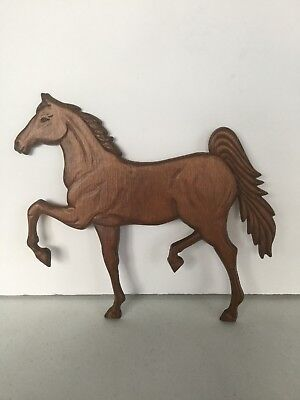 Vintage Wooden Horse Wall Plaque Tennessee Walking Hanging Wood