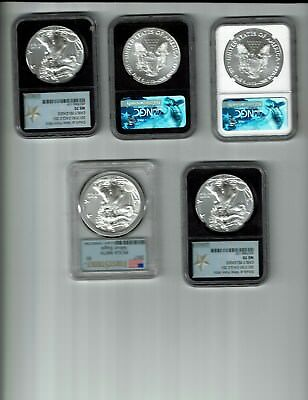 5 Americian Eagles coins various dates