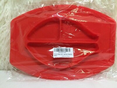 New 1 Piece Baby Toddler Silicone Placemat Plate Dish For Highchair Or Table Red
