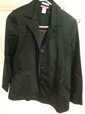 Liz Lange maternity Jacket stretch black/ 97 cotton 3 spandex, lining 100 polyes