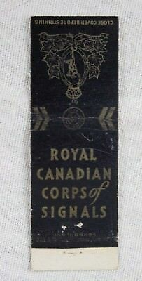 Vintage ROYAL CANADIAN SIGNAL CORPS Canada Military MATCHBOOK COVER