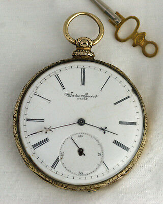 Solid Gold 51mm M.I. Tobias Liverpool Fancy Movement Keywind/Set OF Pocket Watch