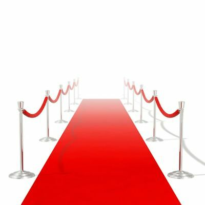 10*1m Red Carpet Wedding Party Decoration Floor Runner Roll Extra Heavy 400 g/m²