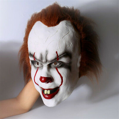 Movie Stephen King's IT Clown Pennywise Halloween Cosplay Scary Mask Costume