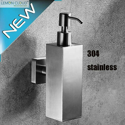 200ml 304 Stainless Steel Soap Dispenser on Wall Mount for Bathroom and Kitchen