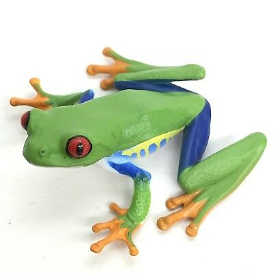 Nature Techni Colour Mini Figure Magnet Red-eyed Tree Frog Ikimon Japan