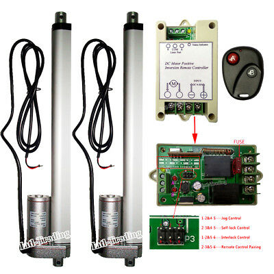 """Set of 2 12"""" 12V Linear Actuator W/ Wireless Control Kits for Door Open Auto Car"""