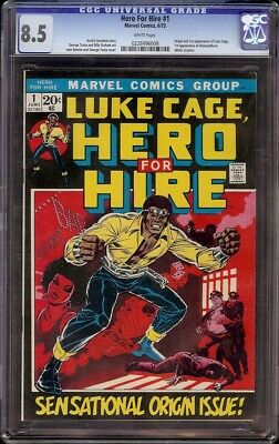 Hero for Hire # 1 CGC 8.5 White (Marvel 1972) 1st appearance Luke Cage Unpressed