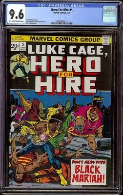 Hero for Hire # 5 CGC 9.6 OW/W (Marvel 1973) Billy Graham cover