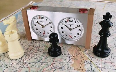 Nice Vintage Heuer Chess Champion 2X Timers Set Master Time Fully Functional